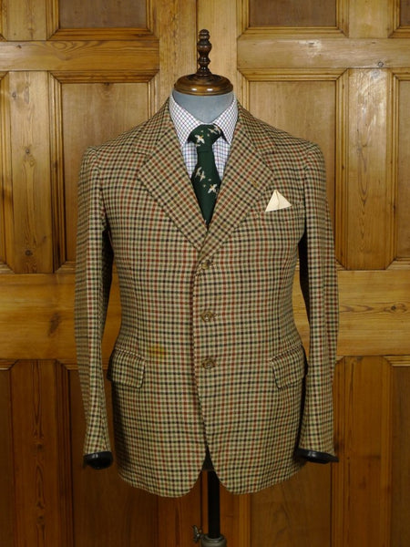 18/1690 wonderful 1955 vintage bespoke tailored tweed sports jacket and matching waistcoat 40 short to regular