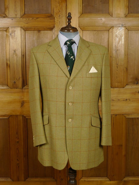 18/1698 immaculate bladen original green wp check lambswool tweed sports jacket 44 regular