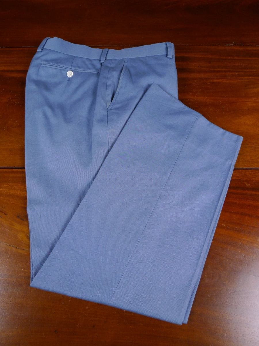 18/1755 gieves & hawkes savile row pale blue cotton chino trouser 32