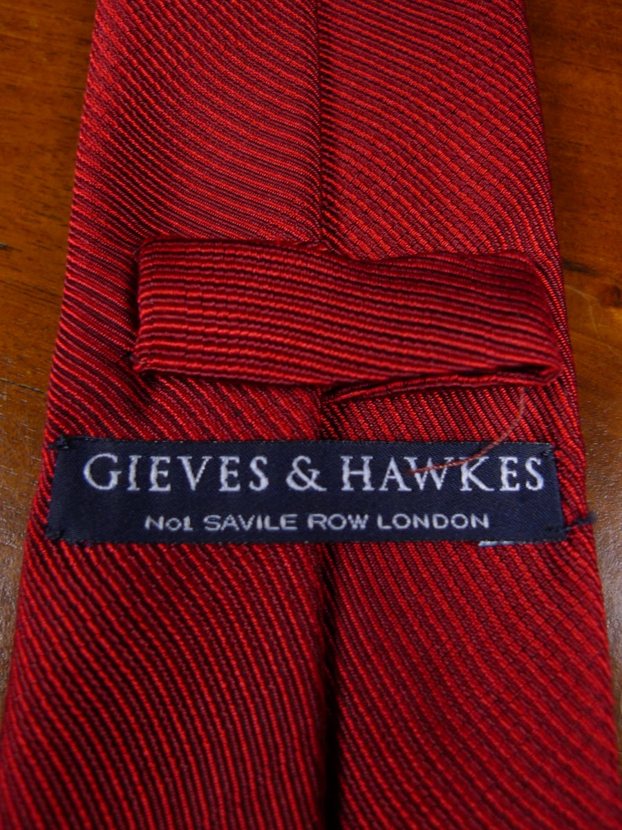 18/1770 gieves & hawkes red silk tie