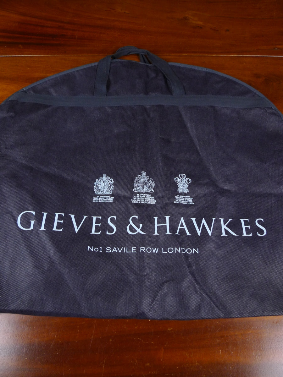 18/1784 immaculate gieves & hawkes savile row navy blue plastic woven suit bag carrier