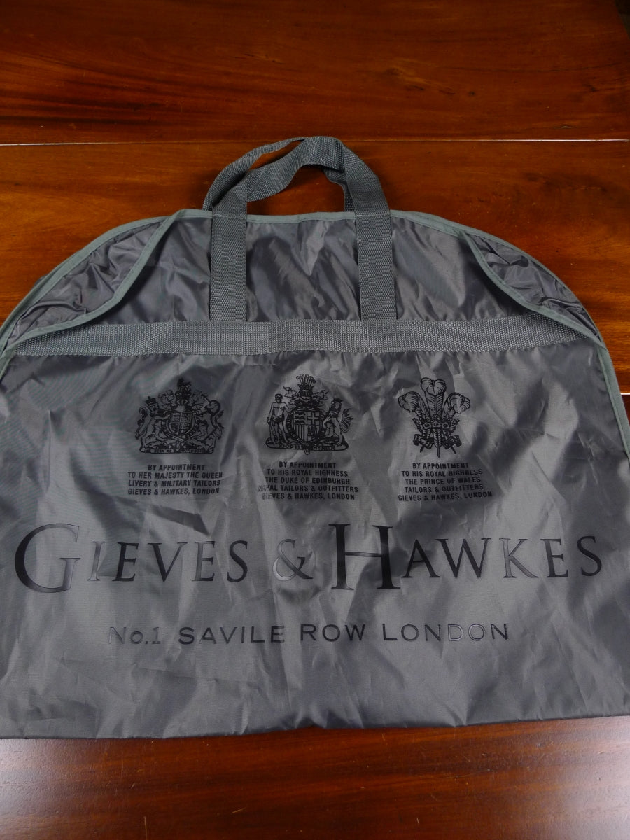 18/1785 immaculate gieves & hawkes savile row grey woven plastic suit bag carrier