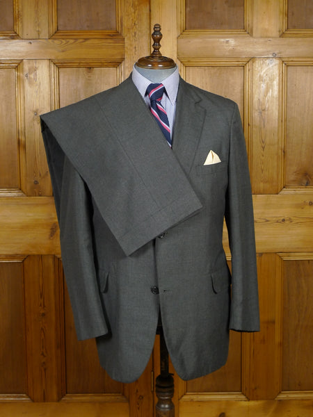 18/1792 brooks bothers usa tailor grey 'roll lapel' lightweight wool suit 43 long