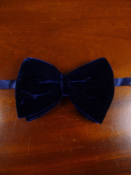 18/1843 vintage blue velvet evening dress bow tie one size