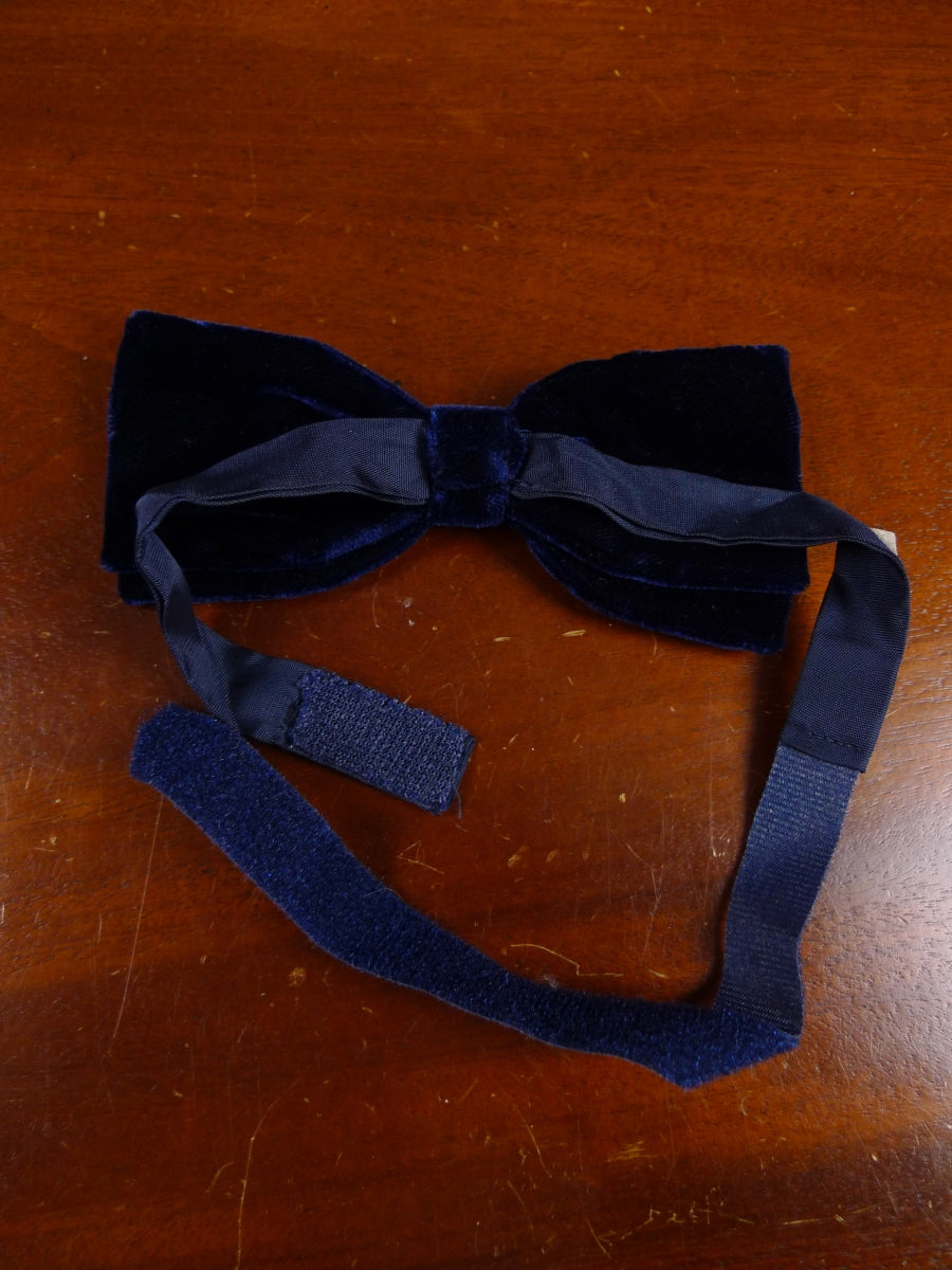 18/1850 vintage blue velvet evening dress bow tie one size