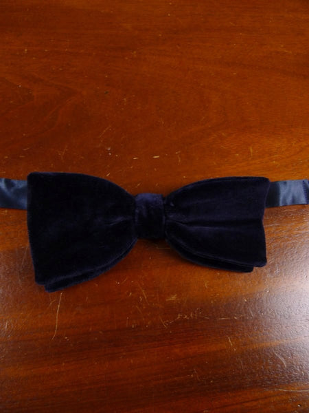 18/1853 vintage blue velvet evening dress bow tie one size