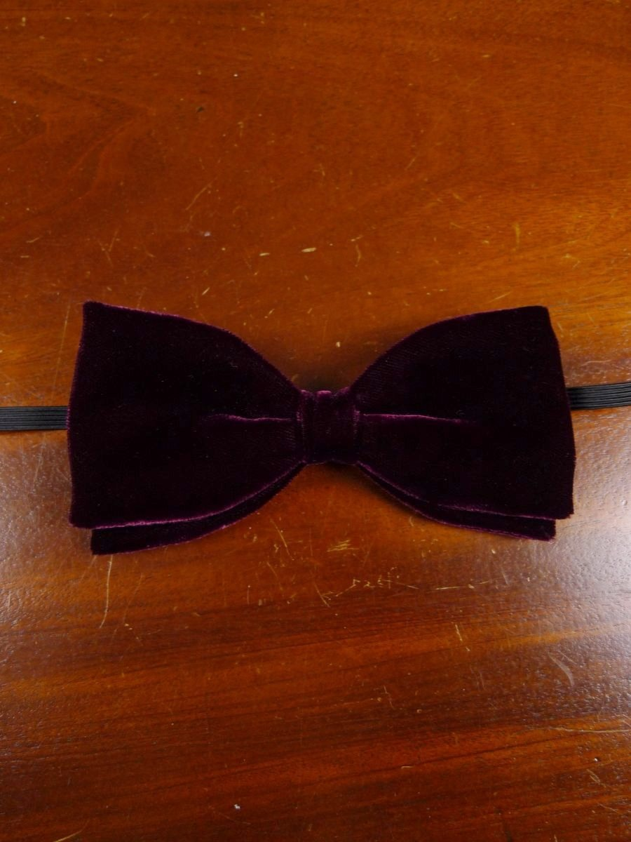 18/1856 vintage burgundy red velvet evening dress bow tie one size