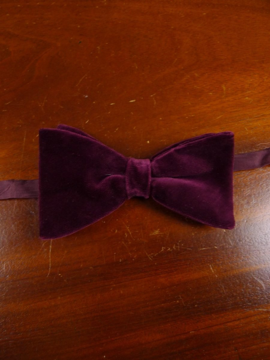 18/1862 vintage burgundy red velvet evening dress bow tie one size