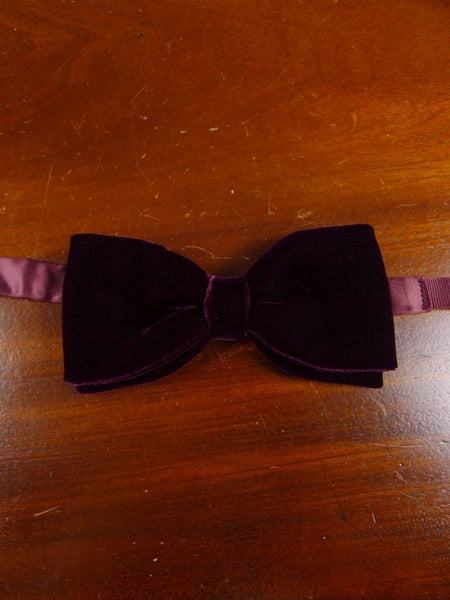18/1861 vintage burgundy red velvet evening dress bow tie one size