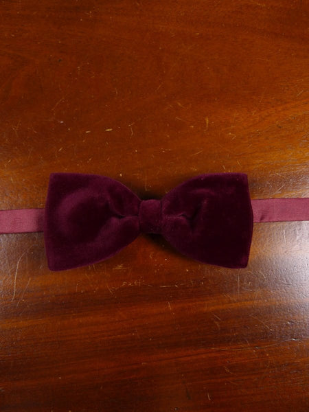 18/1860 vintage burgundy red velvet evening dress bow tie one size