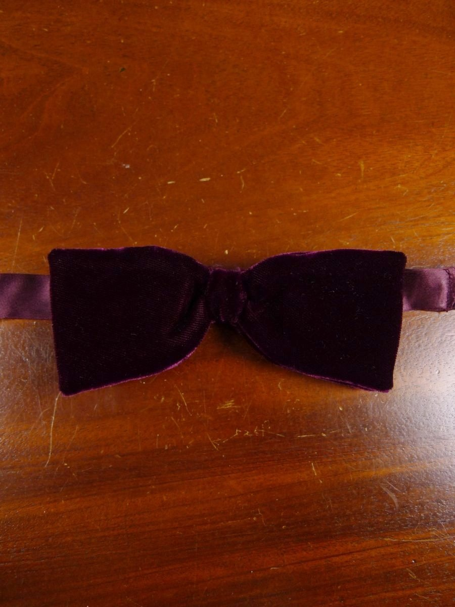 18/1864 vintage burgundy red velvet evening dress bow tie one size