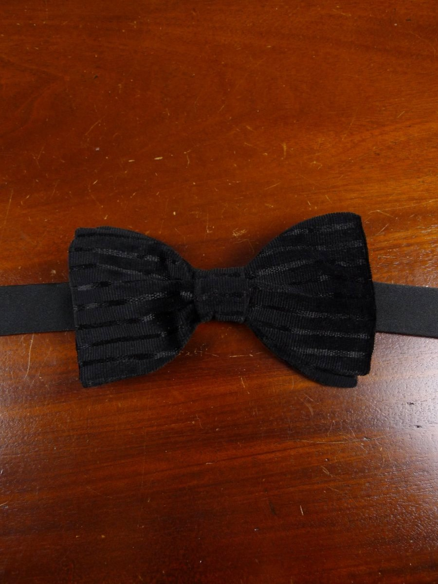 18/1871 vintage black velvet evening dress bow tie one size