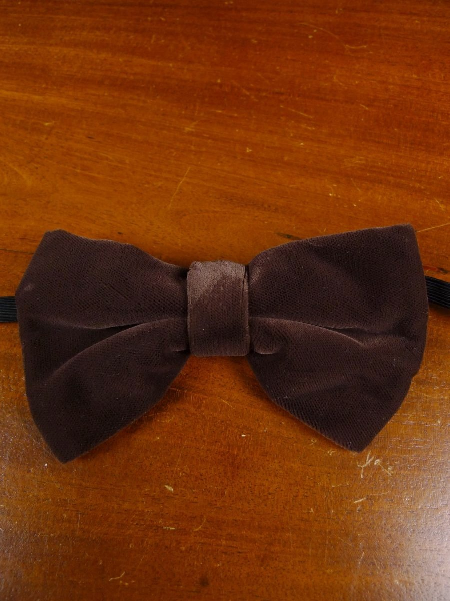 18/1921 brown velvet evening dress bow tie one size