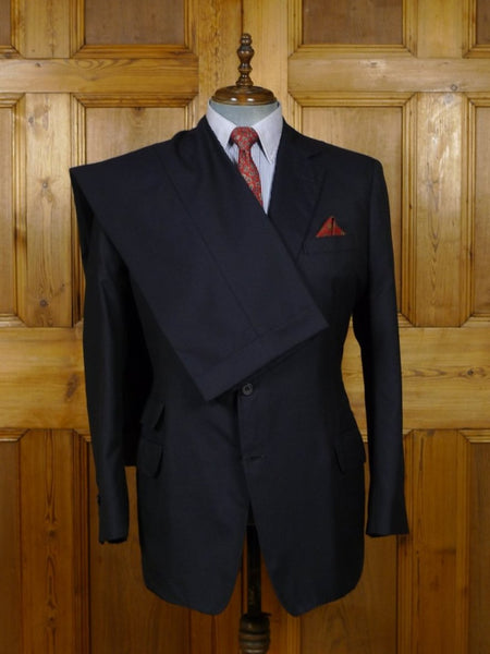 18/1890 immaculate canvassed navy blue pure cashmere with vicuna suit 44 regular to long
