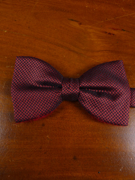 18/1899 maroon black all silk evening dress bow tie one size
