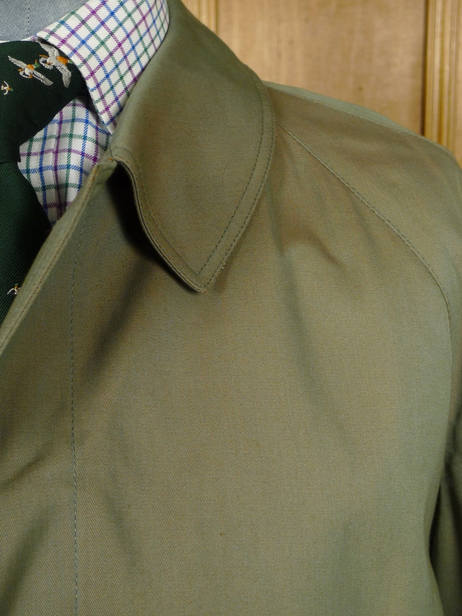 18/1911 near immaculate grenfell 2-tone lovat green cotton field coat shooting jacket (rrp £750) 46