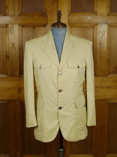 19/0026 SANTARELLI SARTORIA LUXURY beige cotton SPORTS JACKET BLAZER  42 SHORT to regular