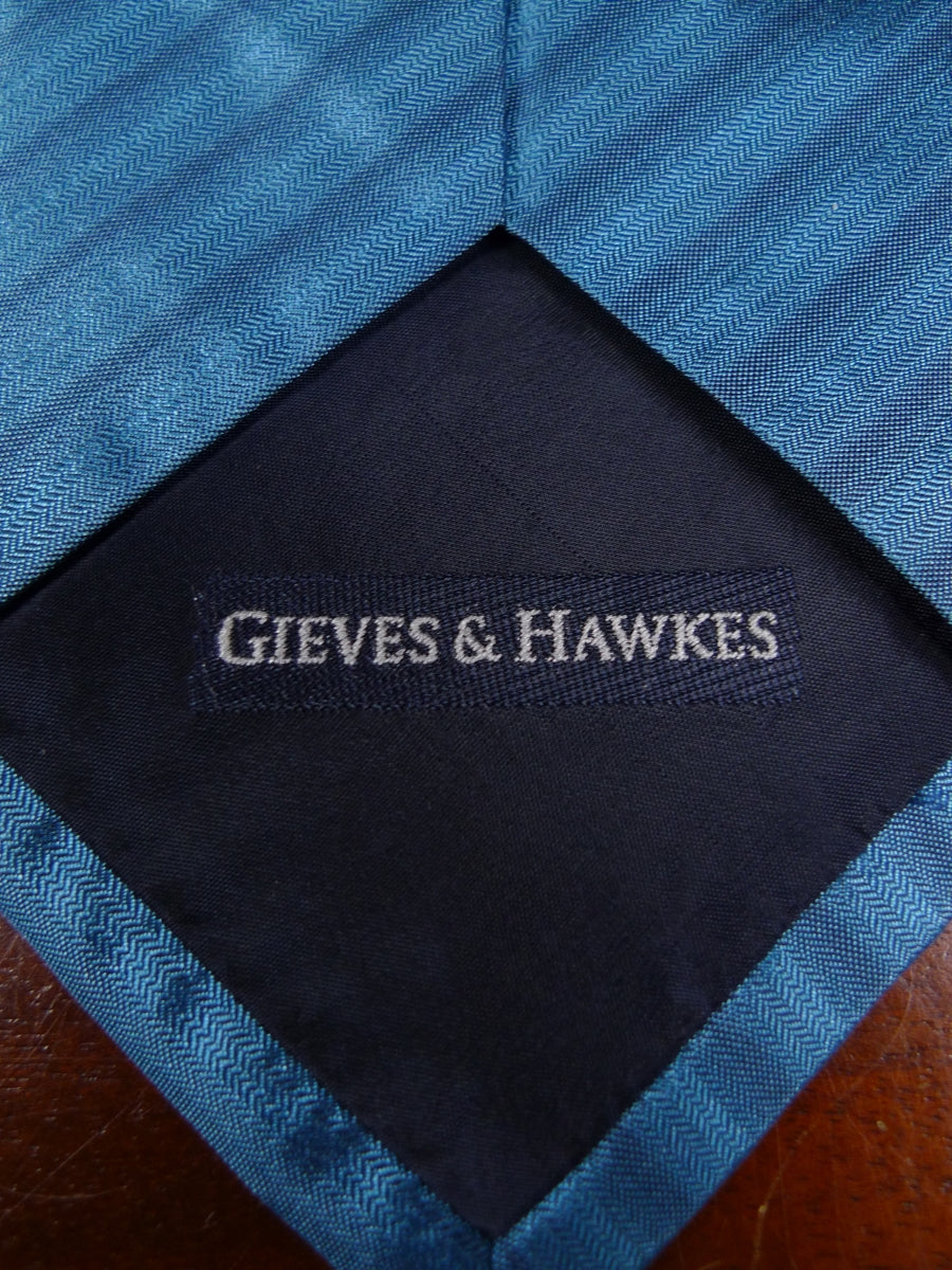 19/0060 gieves & hawkes teal all silk tie