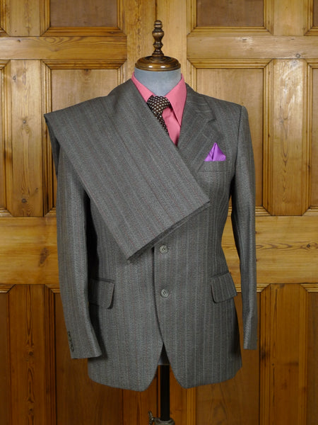 19/0173 immaculate genuine 1970s vintage regent street tailor wide lapel wool twist suit 38-39 short to regular