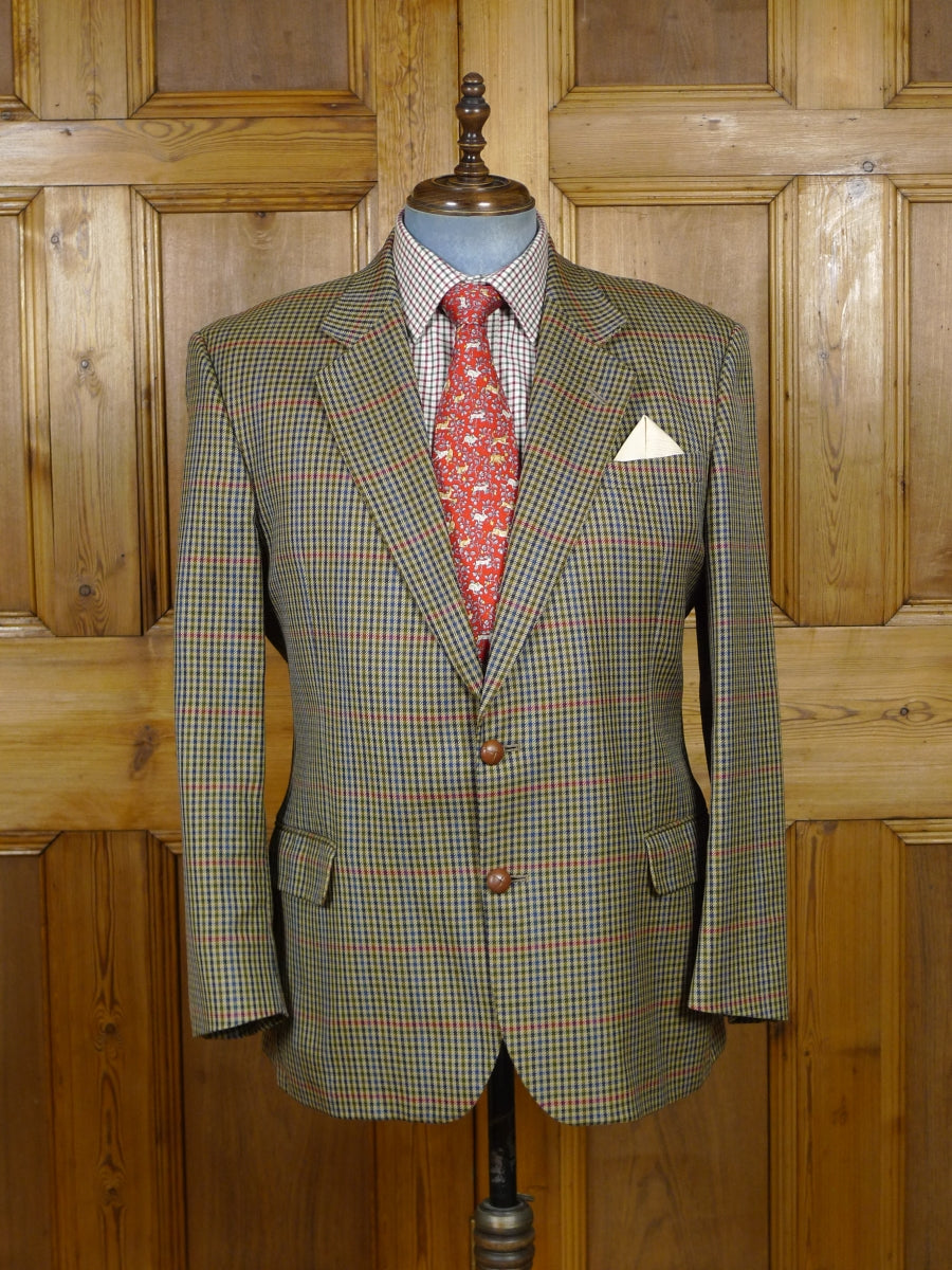 19/0220 vintage gieves & hawkes savile row gun club check wool sports jacket 44 short