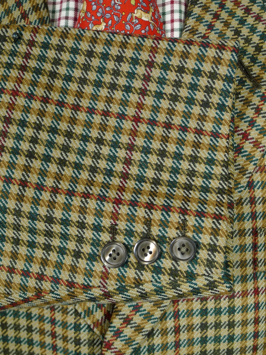 19/0252 immaculate vintage bespoke tailor canvassed houndstooth check heavyweight twill country sports jacket 48 short