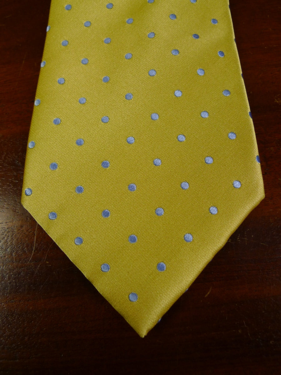 19/0258 immaculate gold silver polka dot silk tie