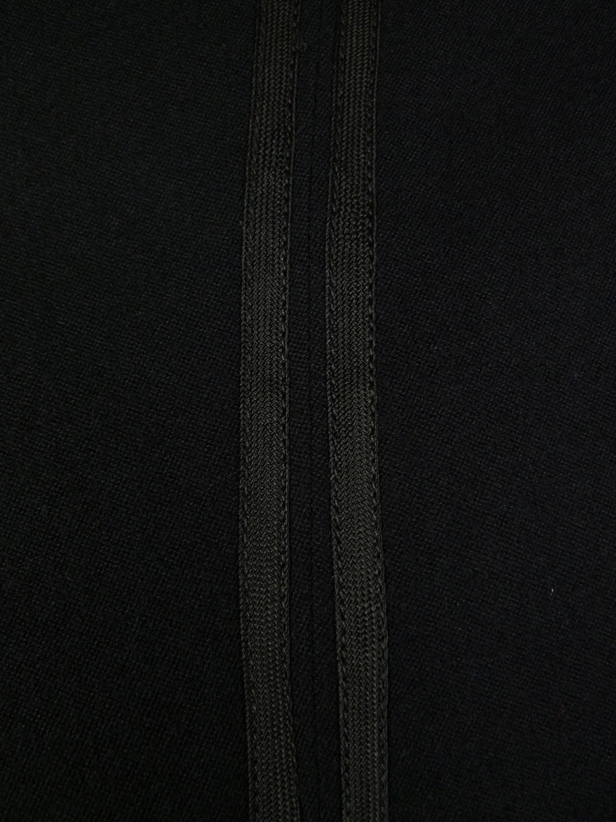19/0289 immaculate bespoke tailored high-rise black barathea white tie evening trouser (twin stripe) 40