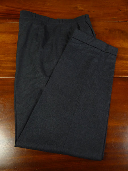 19/0327 anderson & sheppard savile row bespoke grey lighter-weight worsted flannel trouser 41