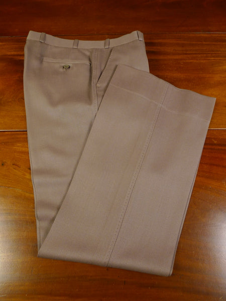 19/0342 immaculate vintage tailor made fawn brown cavalry twill wide leg trouser 32