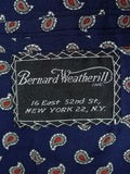 19/0412 bernard weatherill new york bespoke canvassed grey / blue pin-stripe 3-piece suit w/paisley linings 40 regular to long
