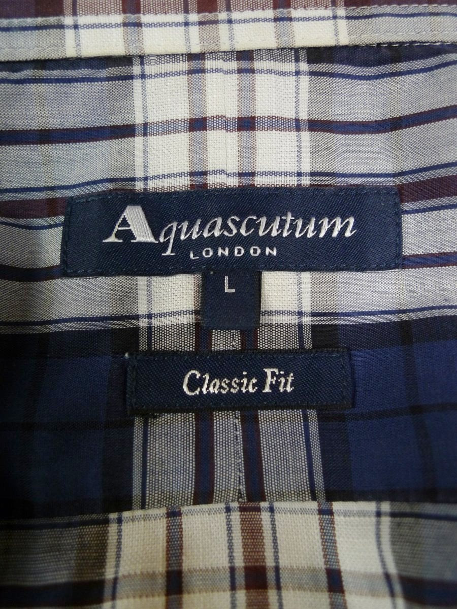 19/0422 immaculate aquascutum 88% cotton 12% linen check shirt (rrp £135) 17