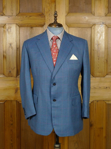 19/0468 immaculate vintage meyer & mortimer savile row bespoke gun check wool sports jacket made for peer of the realm 41-42 short to regular