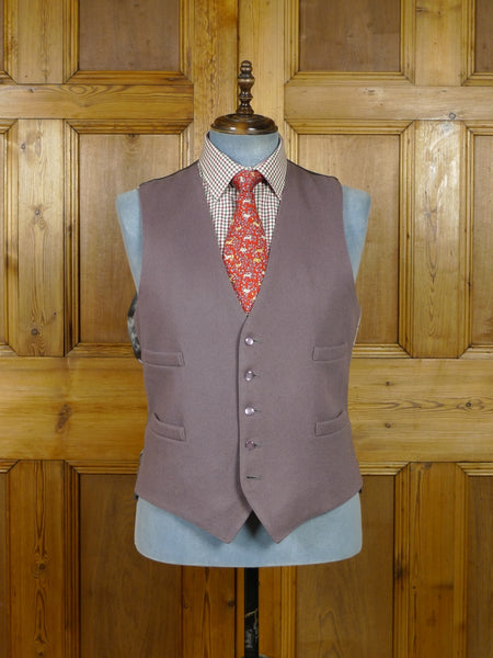 19/0486 quality vintage grey doeskin wool country waistcoat 45