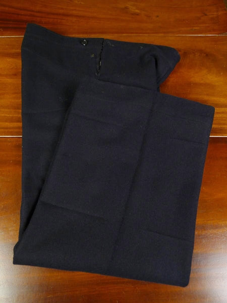 19/0505 genuine 1930s Royal Navy Ordinary Seaman navy blue serge bell-bottom trouser 28