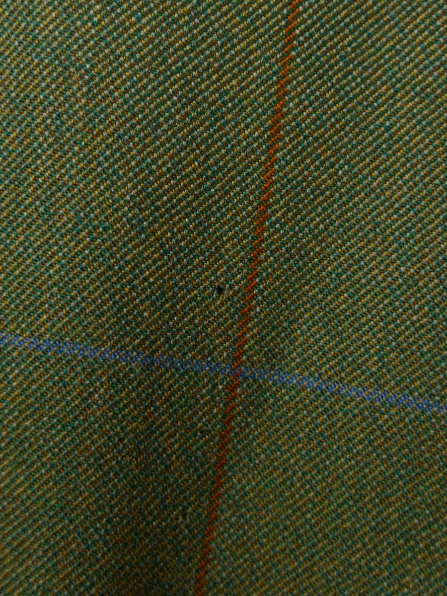 19/0564 near immaculate welsh & jefferies 2005 savile row bespoke green windowpane check wool sports jacket blazer 50 regular