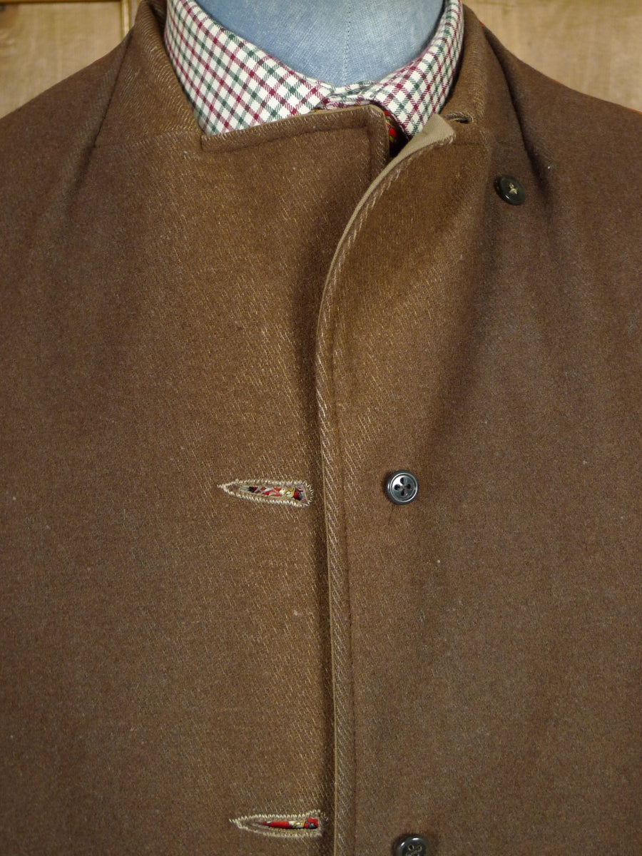 19/0563 quality vintage british cotton field jacket w/ wool lining 47