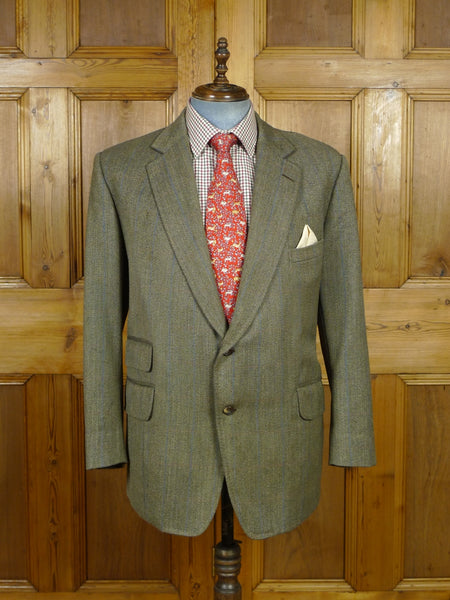 19/0660 nikki kahn 2007 sw3 bespoke canvassed brown wp check tweed jacket 46 short to regular (portly cut)
