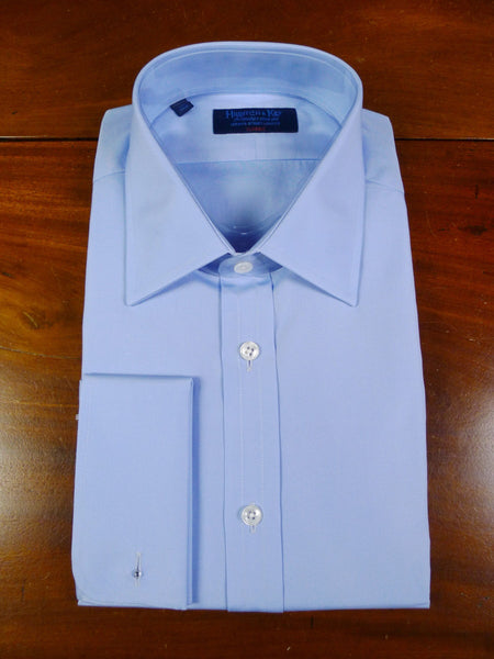 19/0681 new in bag hilditch & key sky blue 'classic' cotton double cuff shirt (rrp £150) 17.5