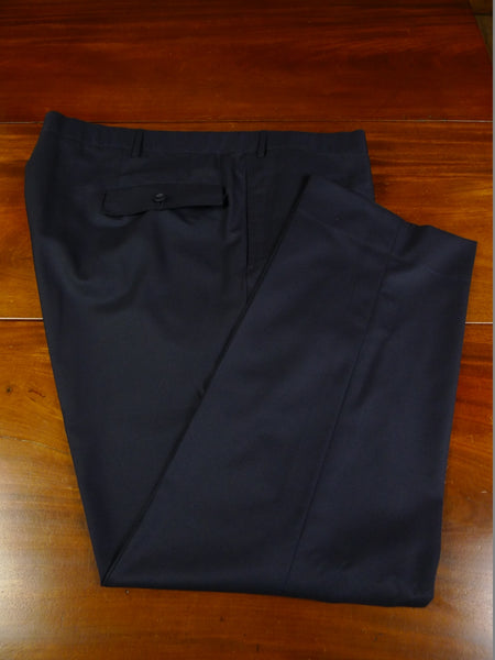 19/0679 immaculate malcolm plews 2018 savile row bespoke navy blue wool trouser 47