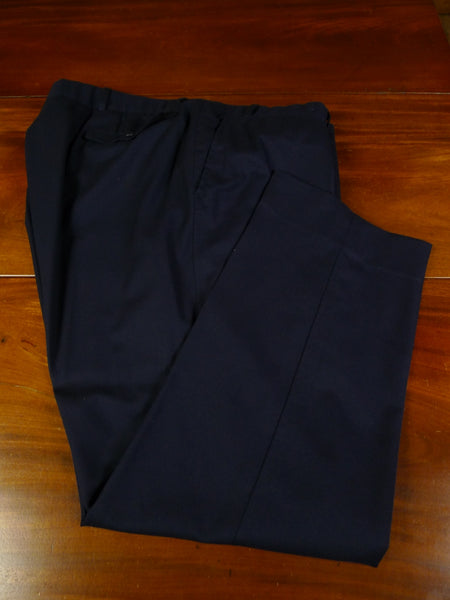 19/0716 immaculate welsh & jefferies 2009 savile row bespoke navy blue wool & cashmere trouser 44