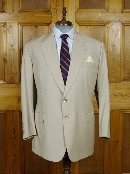 19/0723 near immaculate welsh & jefferies savile row bespoke beige fine wool sports jacket blazer 49 regular