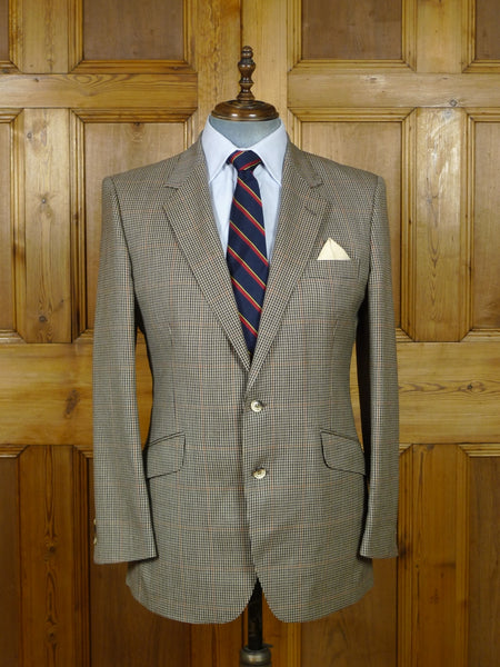 19/0711 vintage john g hardy gun club check 100% wool sports jacket blazer 42 regular