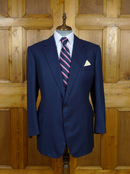 19/0758 near immaculate 2001 welsh & jefferies savile row bespoke blue wool & mohair wp check sports jacket blazer 46 regular