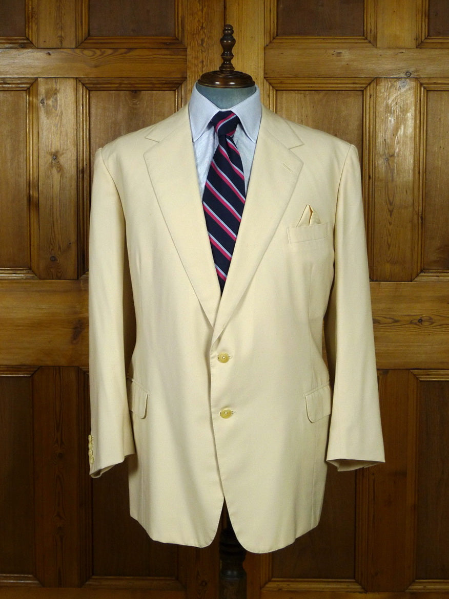 19/0761 lesley & roberts 2000 bespoke cream beige sports jacket blazer 48 regular
