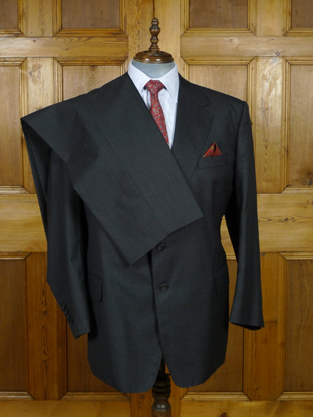 19/0784 near immaculate welsh & jefferies 2012 savile row bespoke grey wool suit 50-51 regular