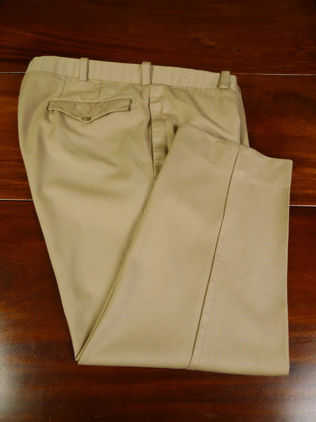 19/0806 immaculate malcolm plews 2013 savile row bespoke beige cavalry twill trouser 45