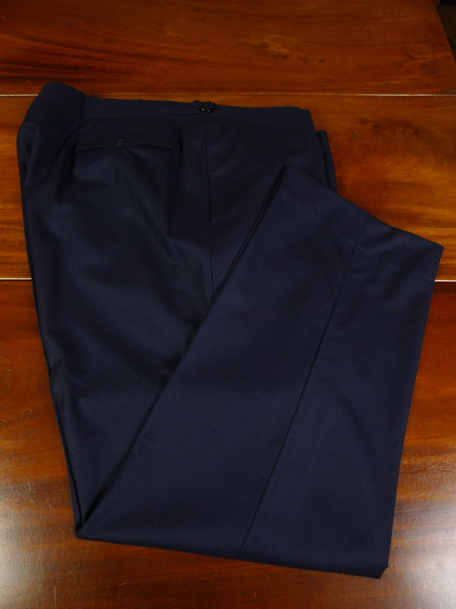 19/0815 immaculate 2016 malcolm plews savile row bespoke navy blue superfine wool & cashmere trouser 45