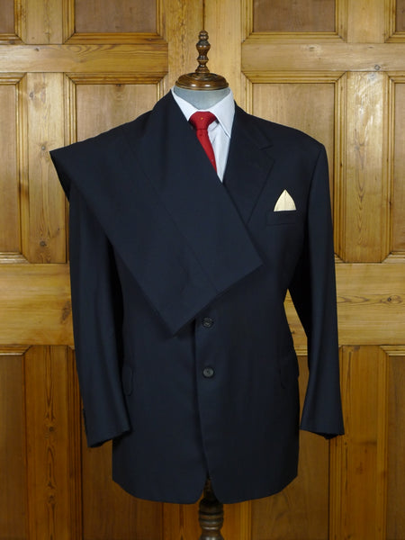 19/0862 welsh & jefferies 2004 savile row bespoke navy blue wool suit 48-49 regular