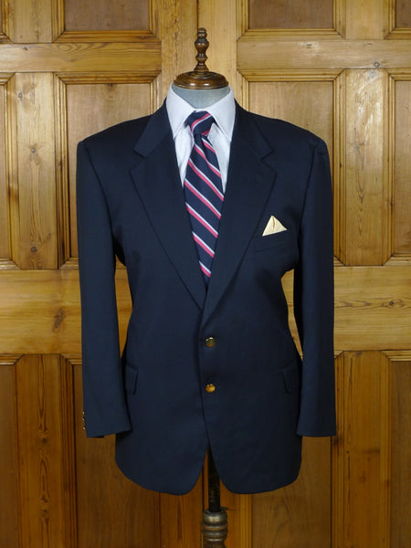 19/0823 vintage airey & wheeler piccadilly lightweight navy blue wool blazer 45 short