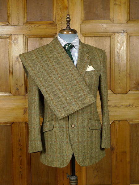 19/0834 vintage bladen supasax windowpane check tweed suit 39 short